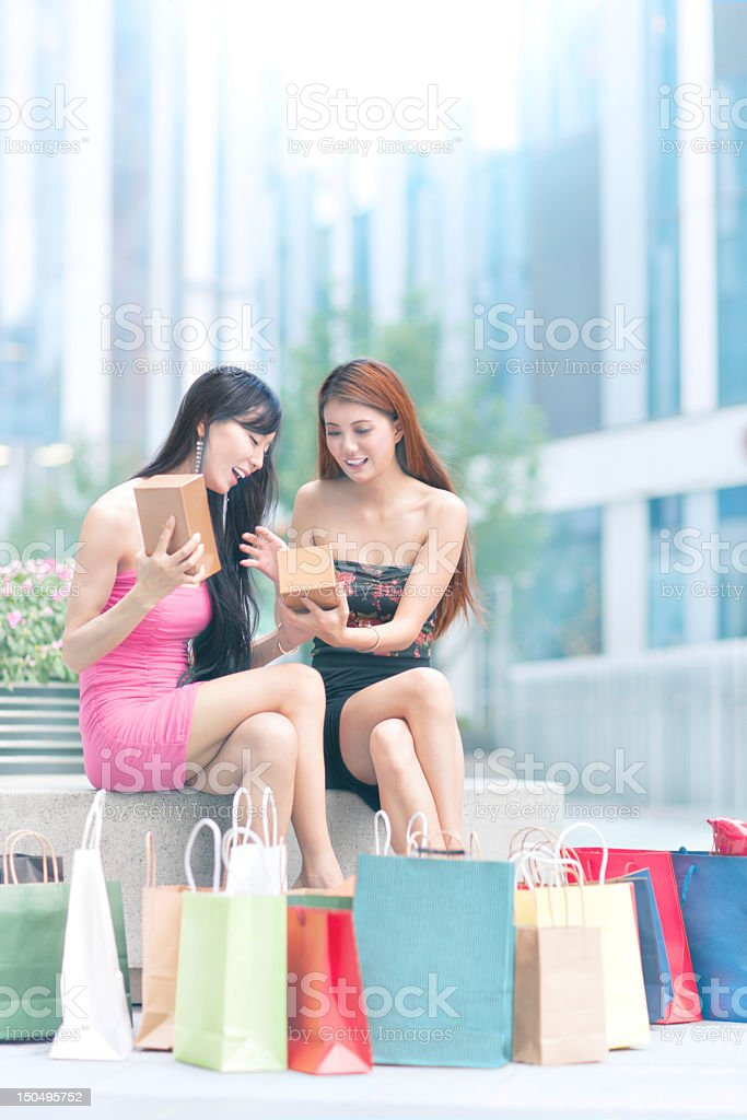 Shopping together royalty-free stock photo