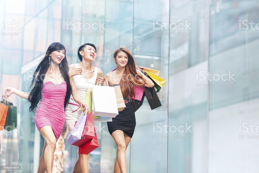 Shopping together stock photo