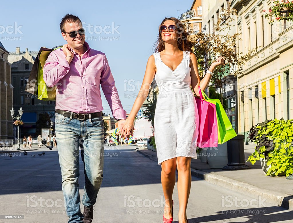 Shopping together. royalty-free stock photo