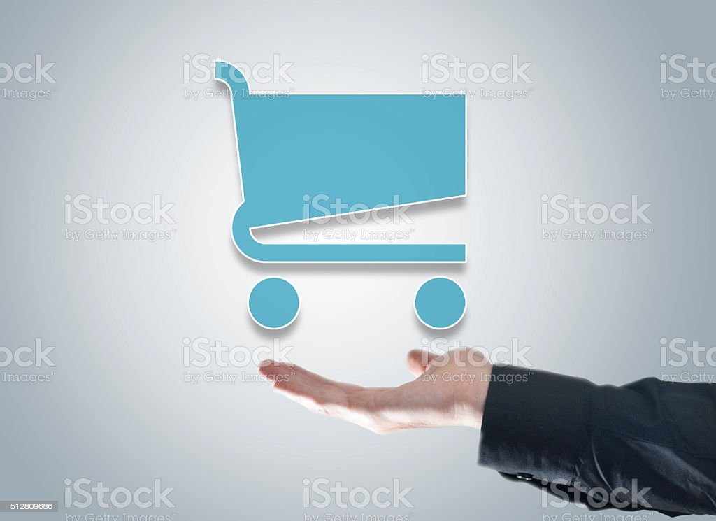 Shopping / Touch screen concept (Click for more) stock photo