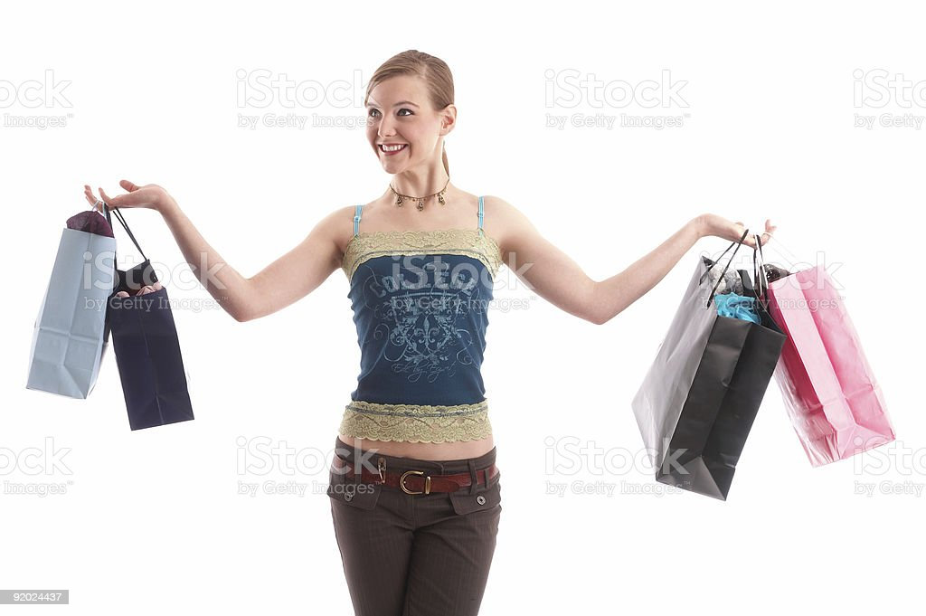 shopping tour royalty-free stock photo
