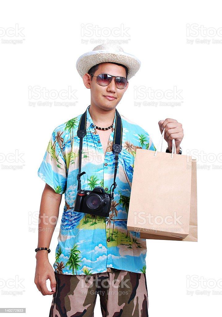 Shopping tourist royalty-free stock photo