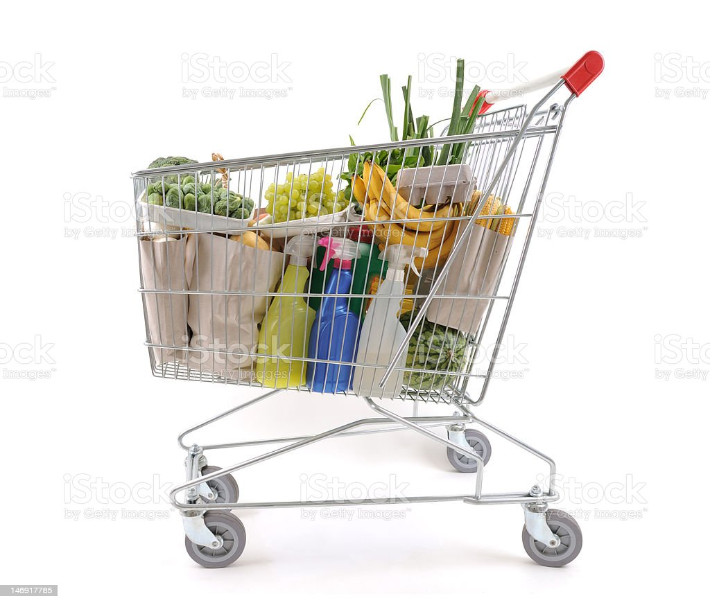 Shopping trolley royalty-free stock photo