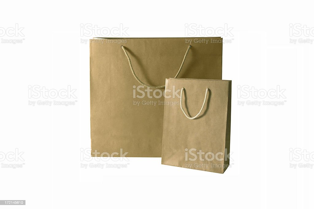 shopping: two bags isolated royalty-free stock photo