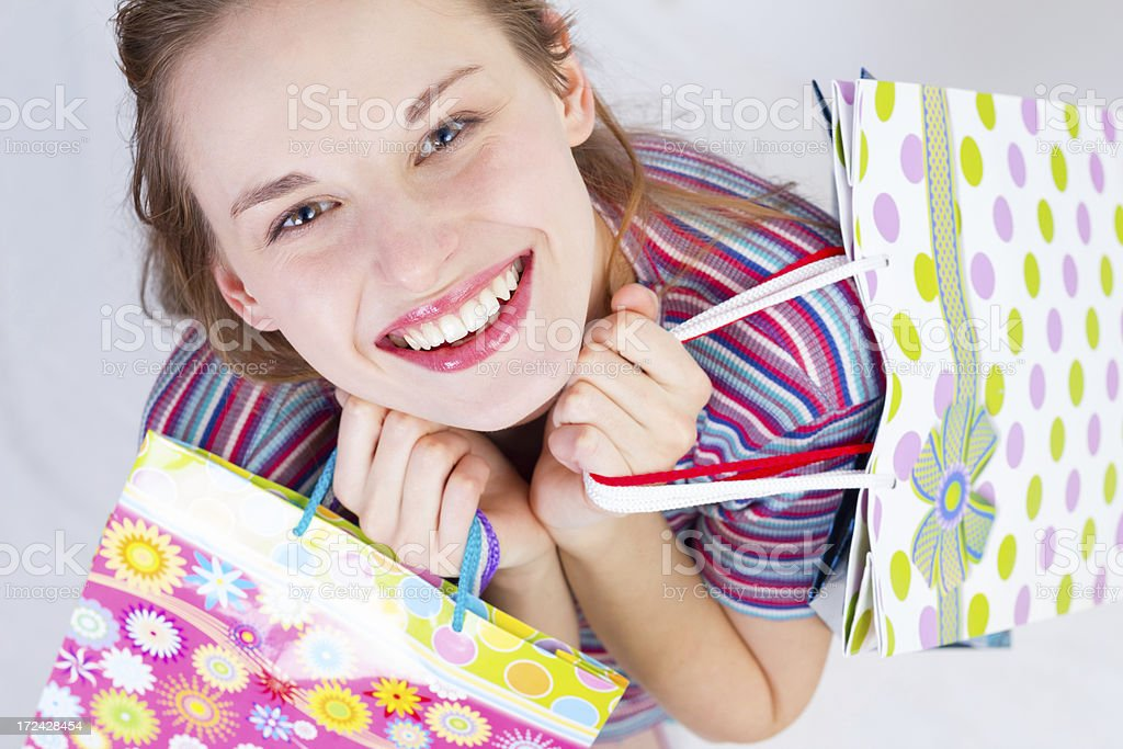 Shopping was a success! royalty-free stock photo