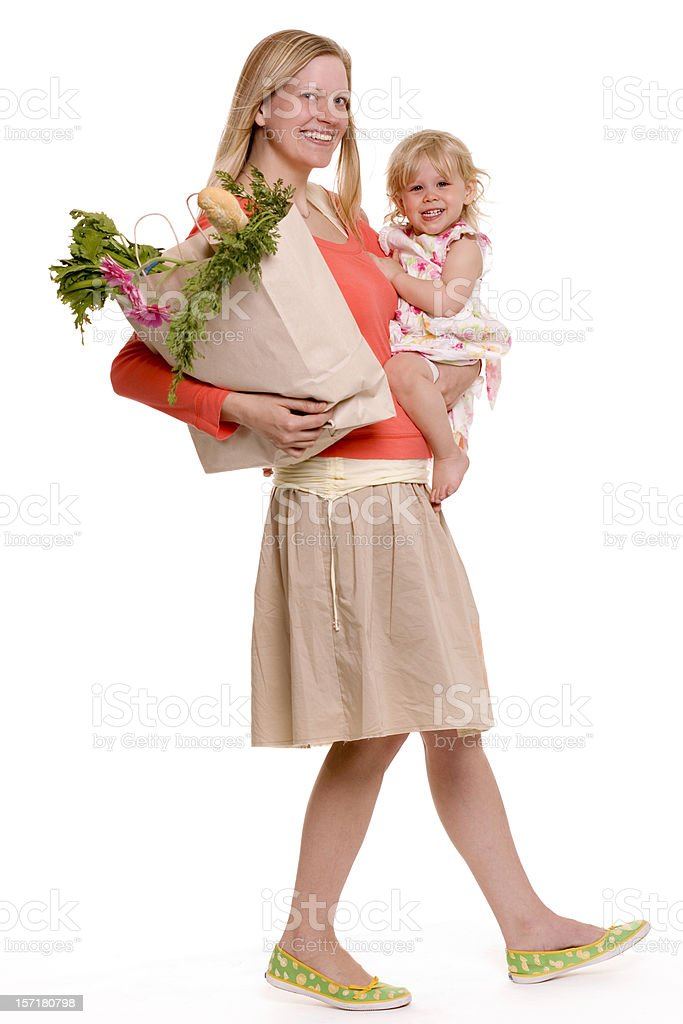Shopping with Baby royalty-free stock photo