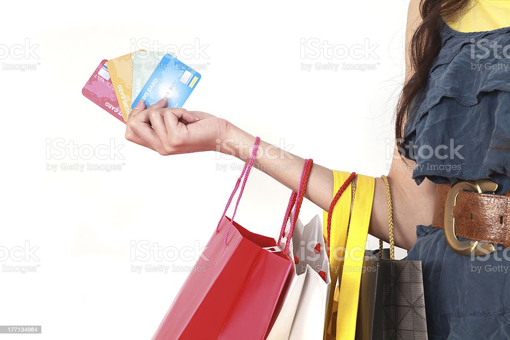 Shopping With Card royalty-free stock photo