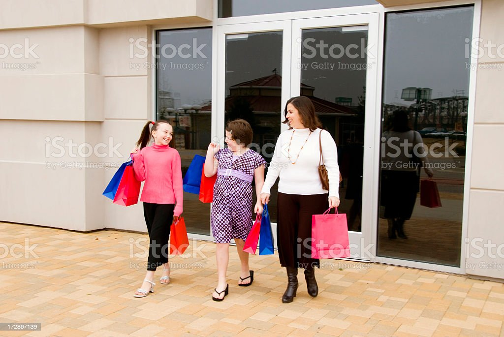 Shopping with Mom royalty-free stock photo
