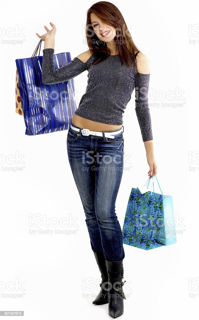 shopping woman royalty-free stock photo