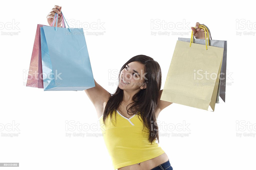 Shopping young girl royalty-free stock photo