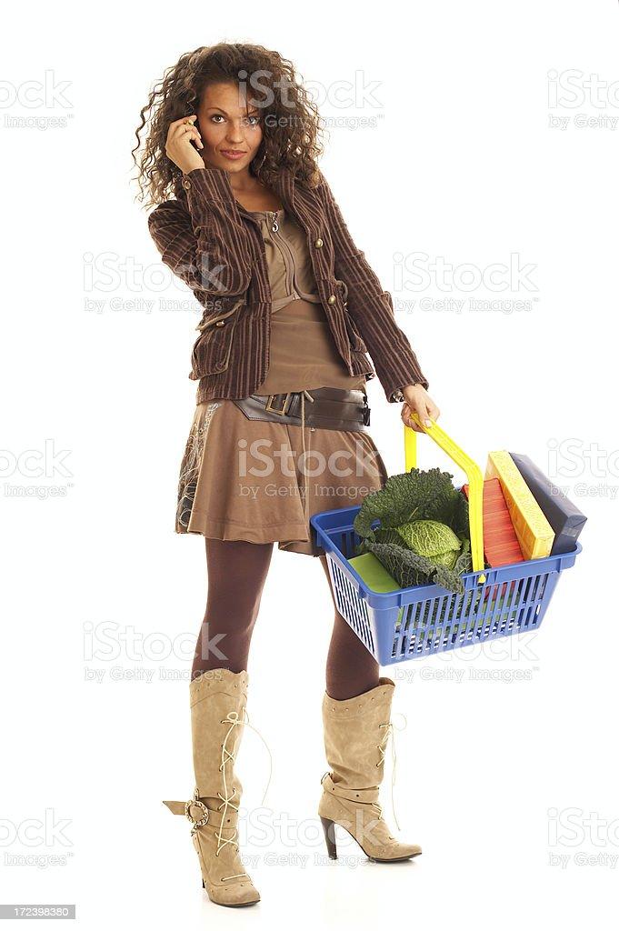 Shopping&Calling royalty-free stock photo