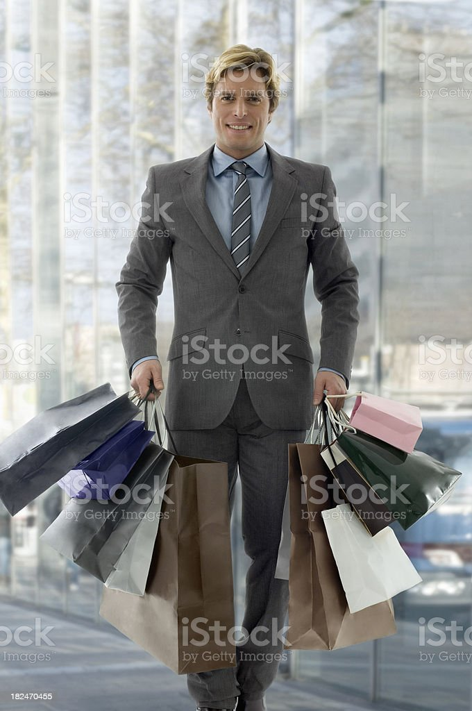 Shoppingman royalty-free stock photo