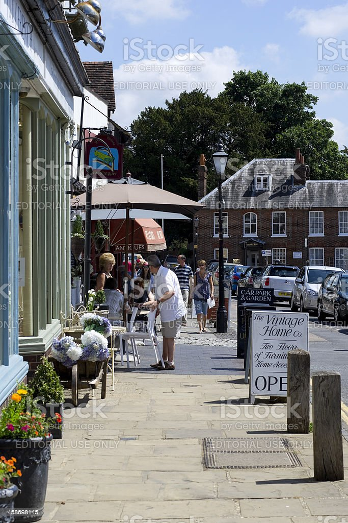 Shops and cafes in Westerham royalty-free stock photo