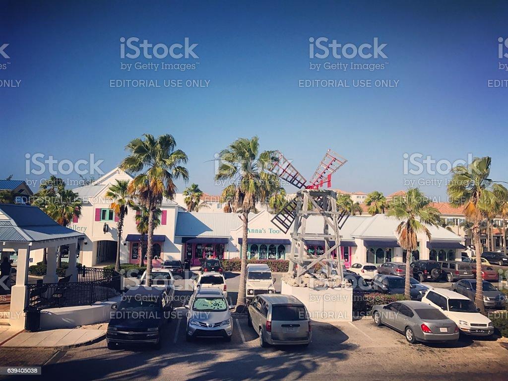 Shops at Saltmills Plaza, Providenciales. Turks and Caicos stock photo