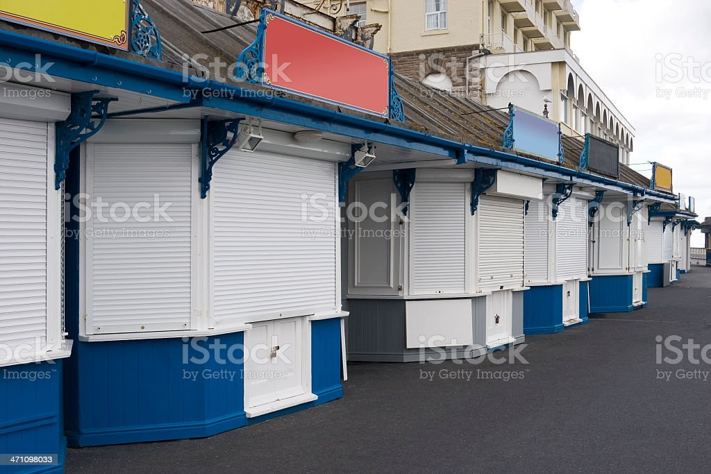 Shops closed down royalty-free stock photo