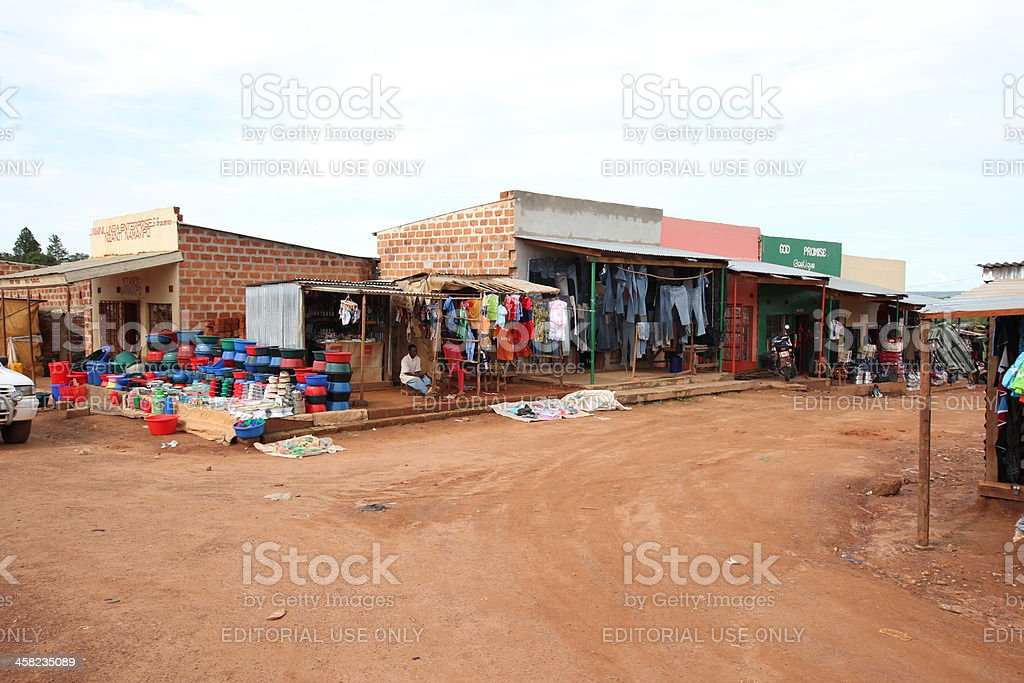 Shops in an Rural African Area stock photo
