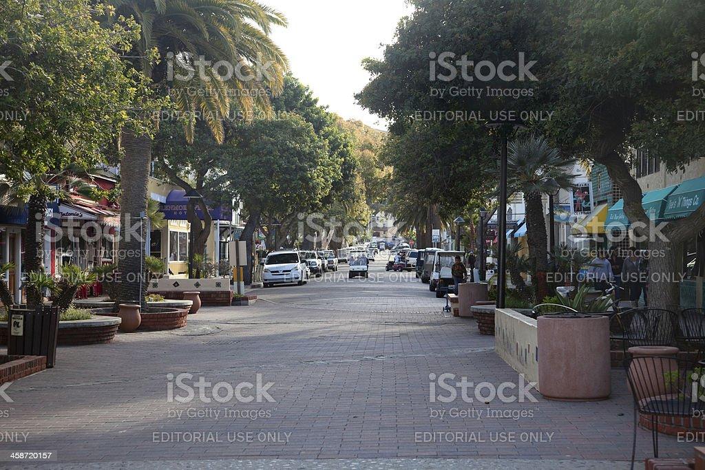 Shops in Avalon, Catalina Island stock photo