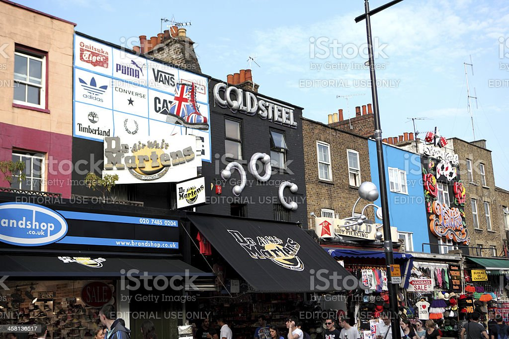 Shops in Camden stock photo