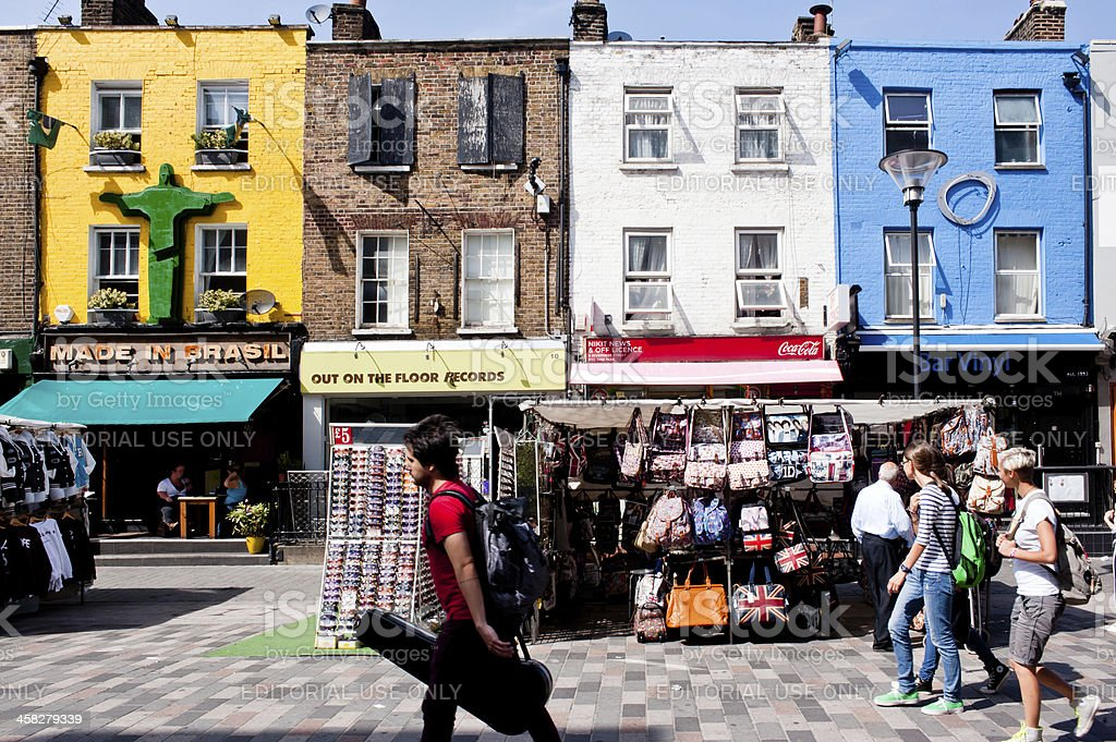 Shops in Camden Town, London royalty-free stock photo