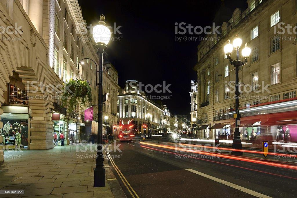 Shops in London, Regent Street stock photo