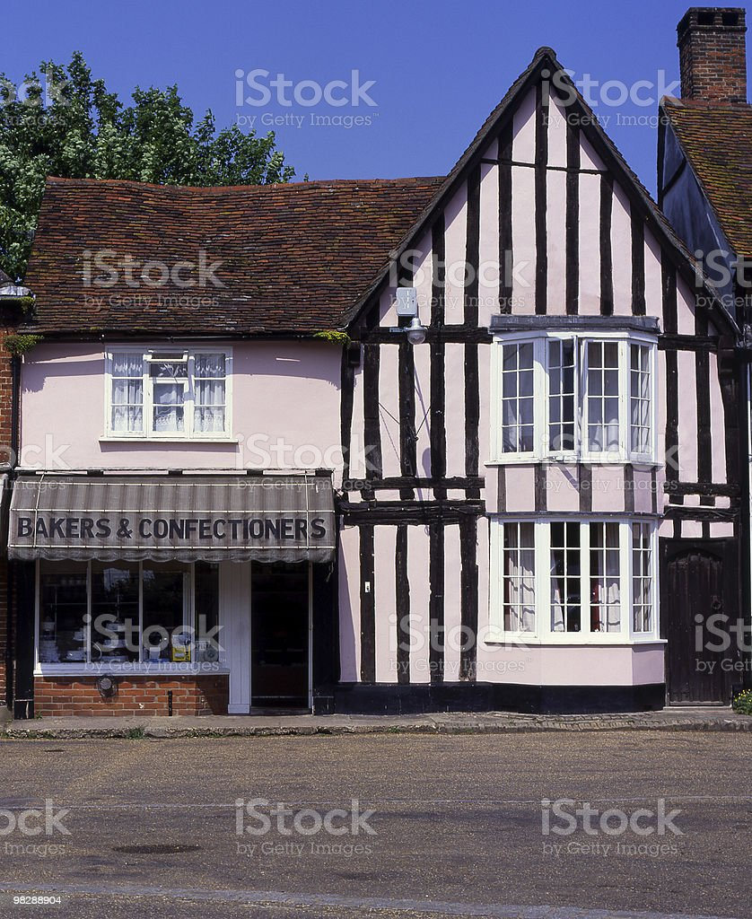 Shops in Market Square. Lavenham. Suffolk. England royalty-free stock photo