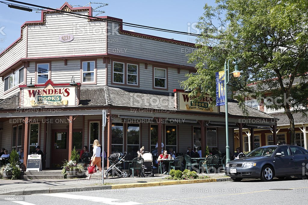 Shops in The Small Town Of Fort Langley stock photo