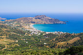 Shore and Plakias town on Crete - Greece
