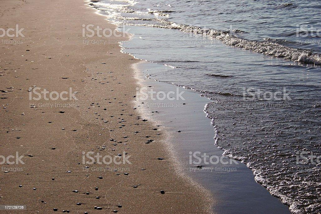 Shore at Lake Michigan royalty-free stock photo