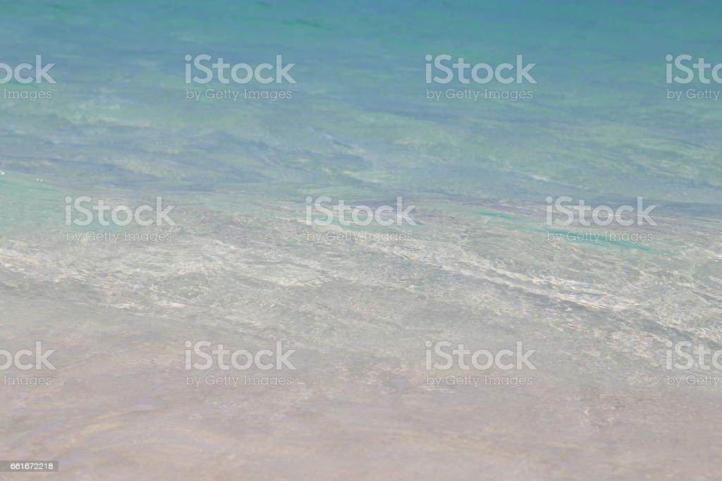 Shore Bay of Caribbean Sea stock photo