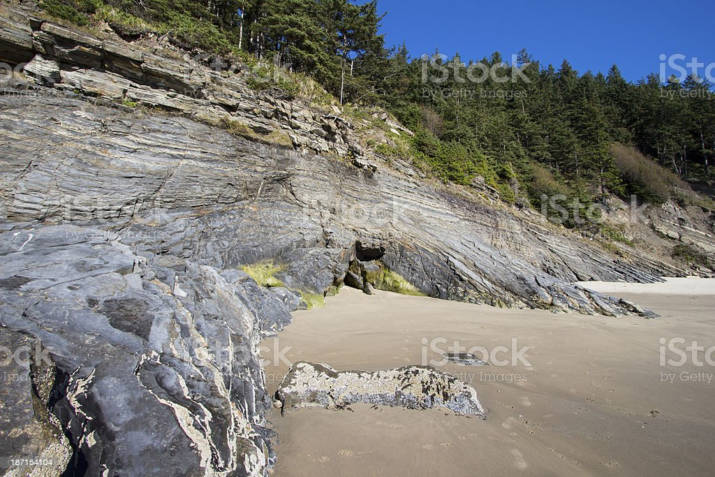 Shore Caves royalty-free stock photo