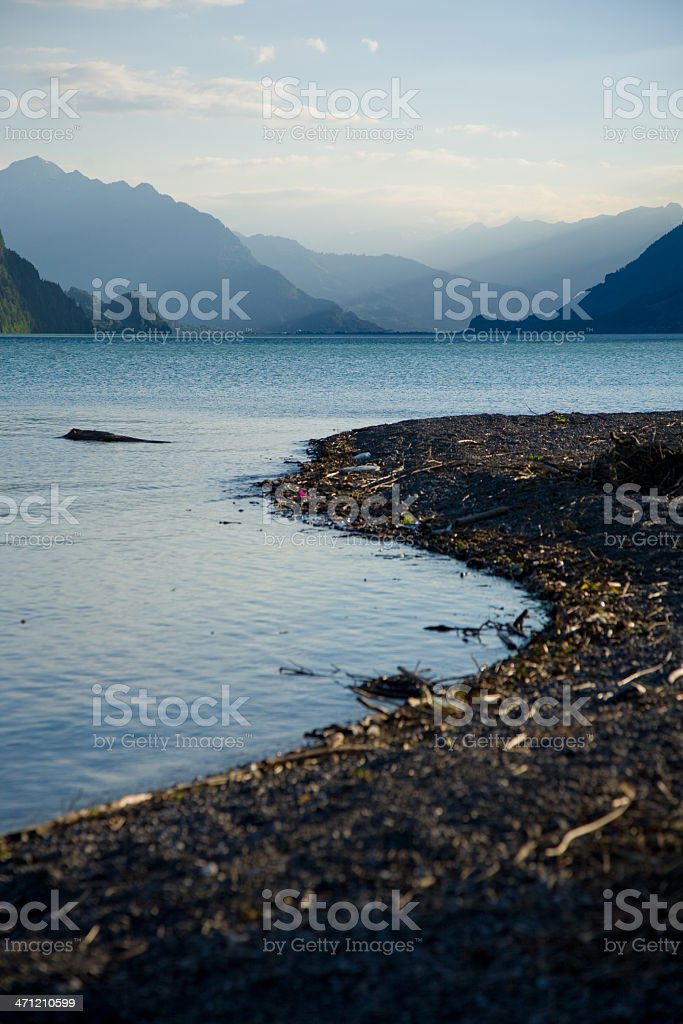 shore Brienzersee stock photo