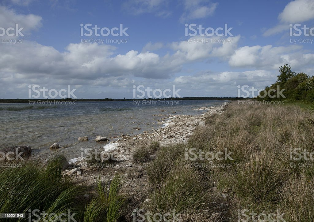 Shore of a lake in The Burren, Ireland royalty-free stock photo