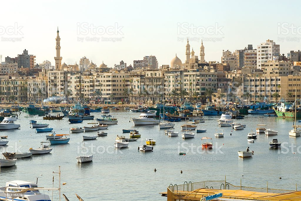 Shore of Alexandria. Egypt stock photo