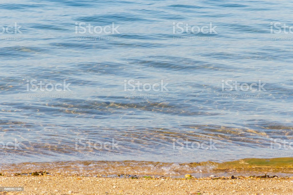 Shore of the beach background stock photo