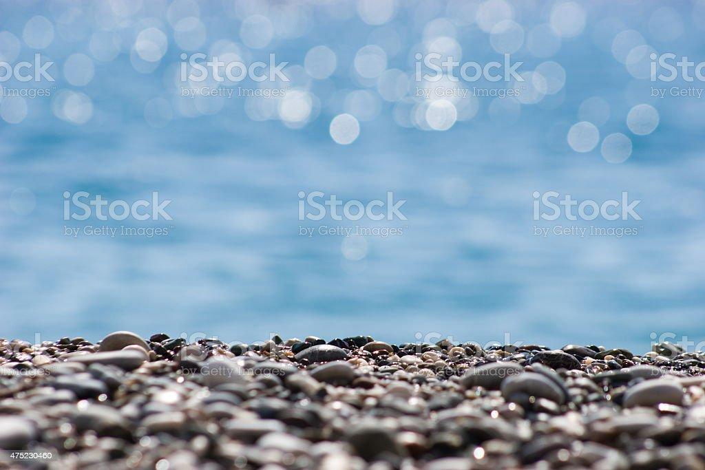 Shore stones stock photo