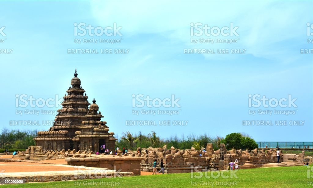 Shore Temple in Mahabalipuram Temple stock photo
