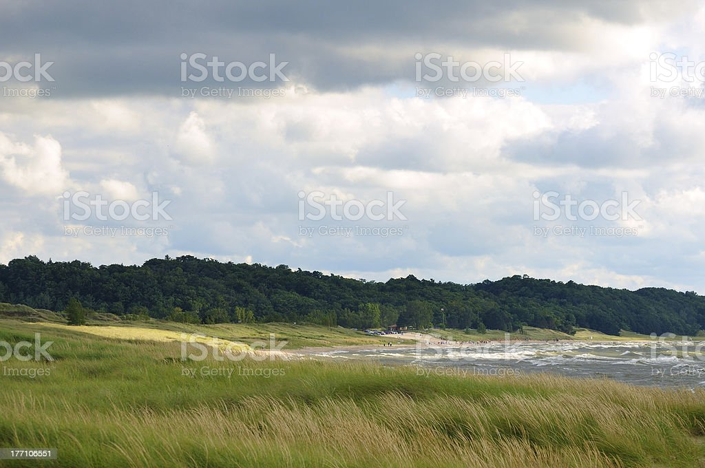 Shoreline and beach stock photo