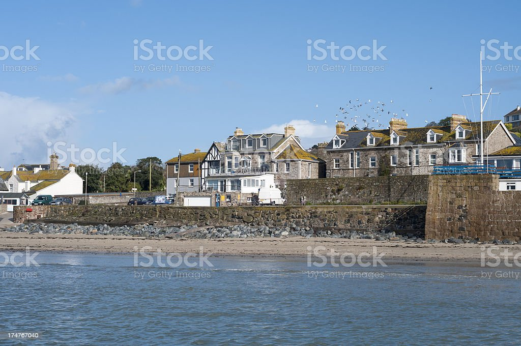 Shoreline At Penzance In Cornwall, England stock photo