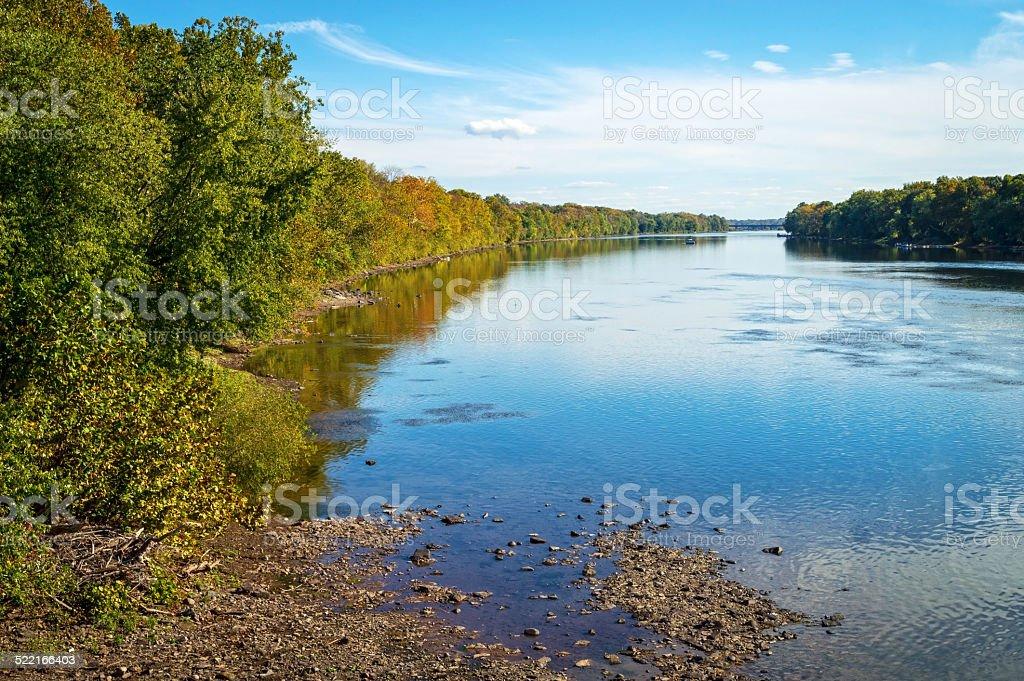 Shoreline Delaware River stock photo
