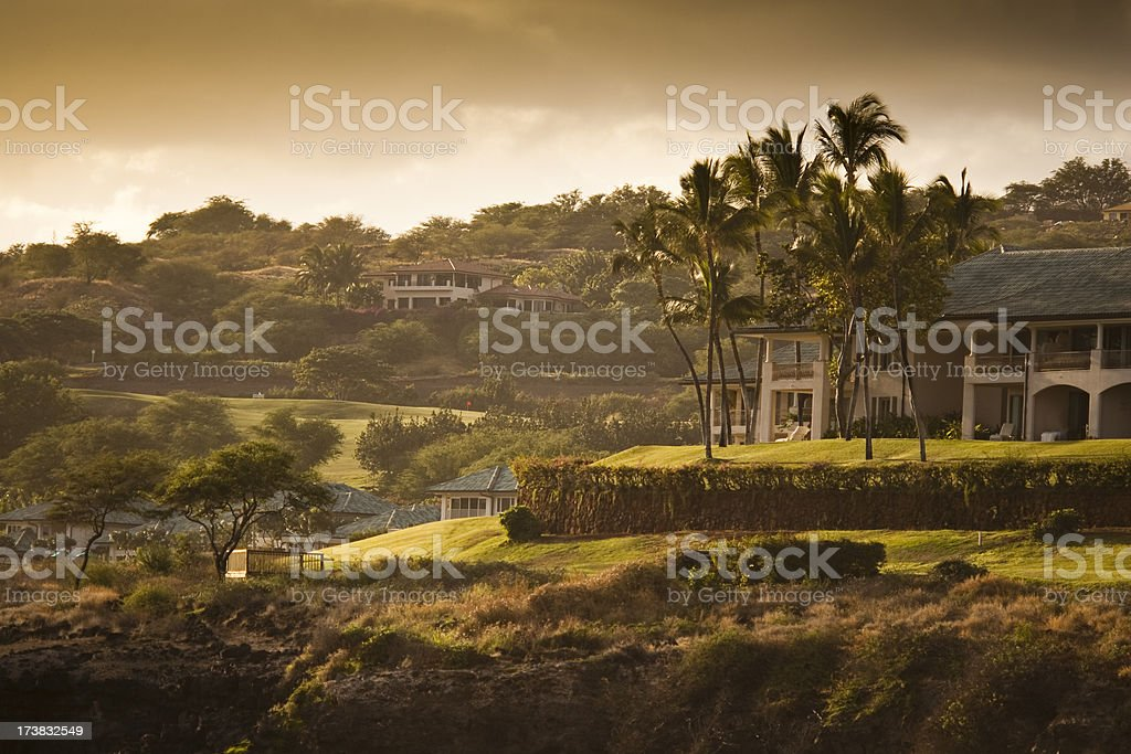 Shoreline in Lanai Hawaii stock photo