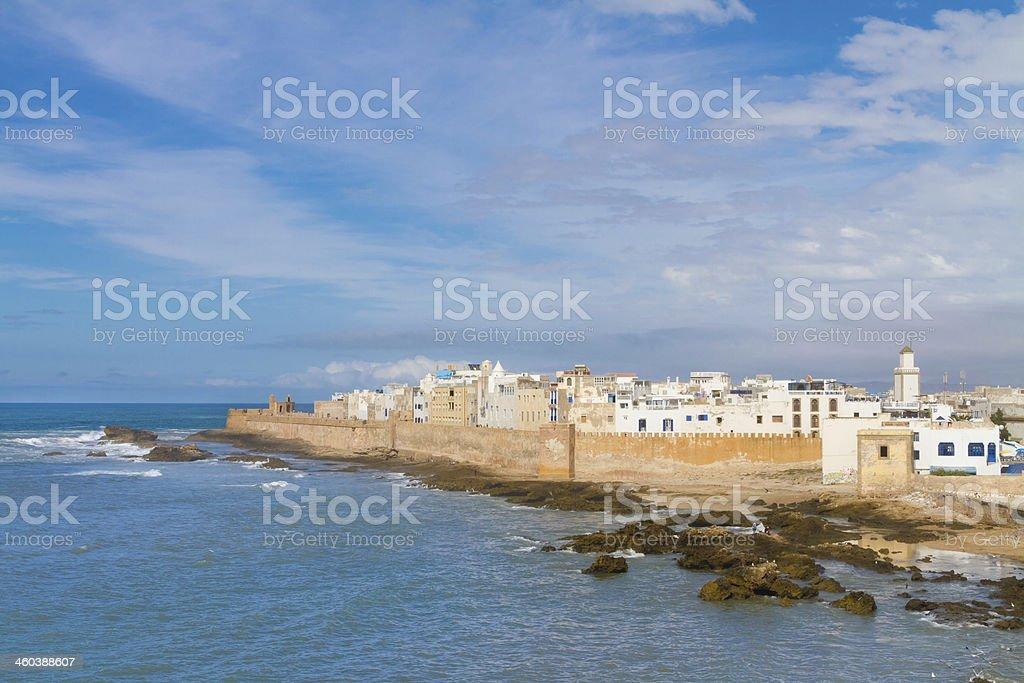 Shoreline landscape of Essaouira in Magador, Marrakech, stock photo