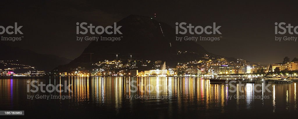 Shoreline of Laguno at night royalty-free stock photo