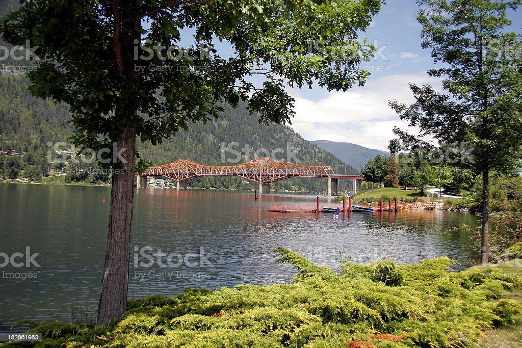 Shoreline Of Nelson British Columbia Lakeside Park stock photo