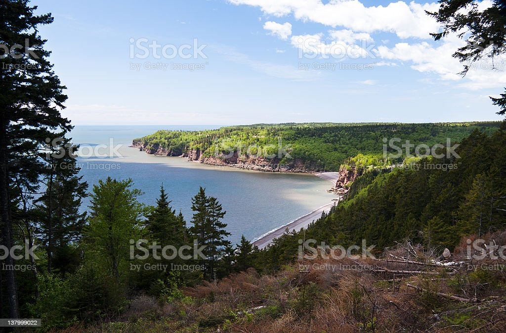 Shoreline of the Fundy Trail stock photo