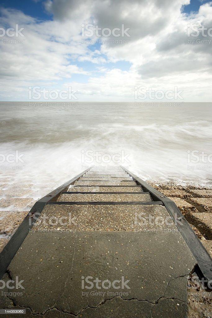 Shoreline Steps stock photo