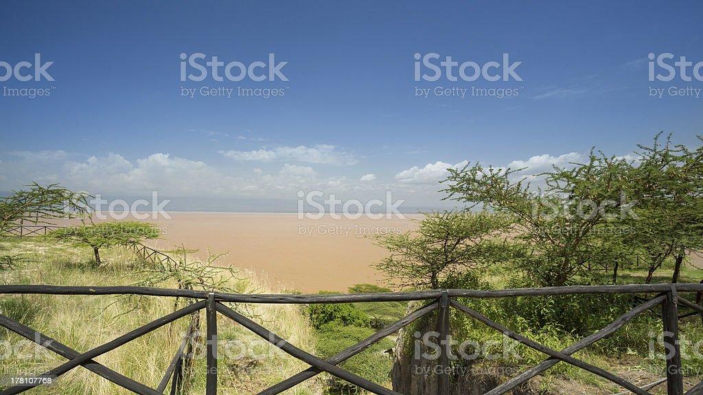 Shores of Langano Lake royalty-free stock photo
