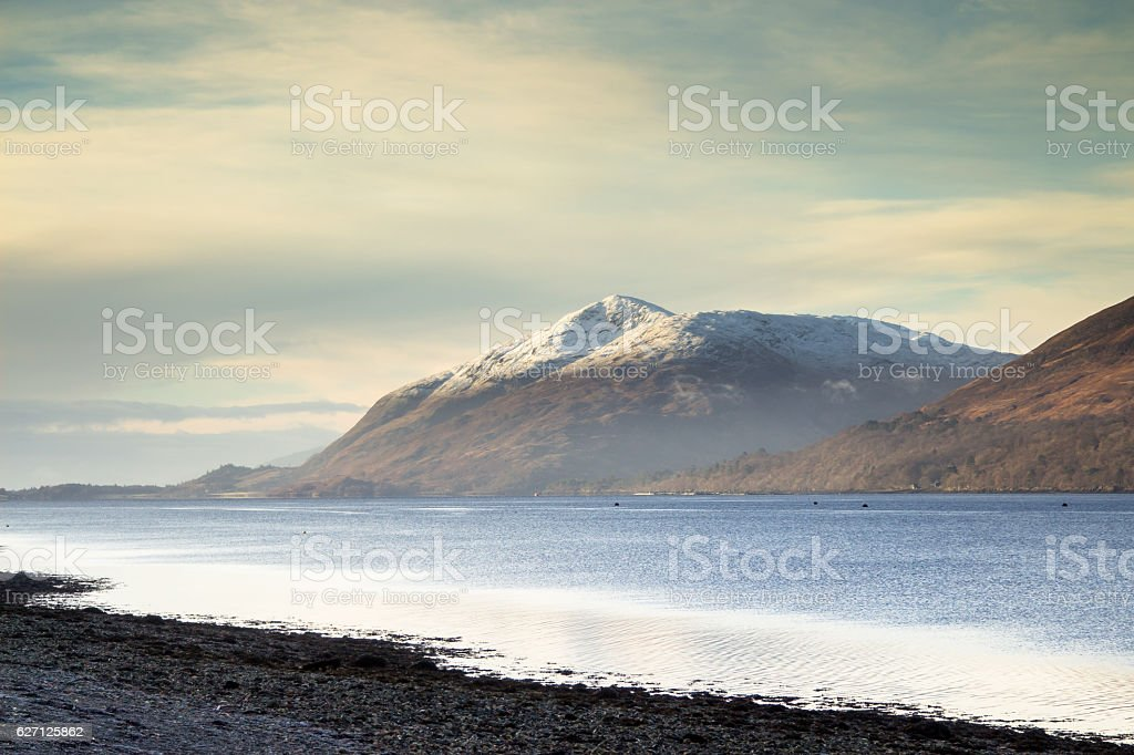 Shores of Loch Linnhe stock photo