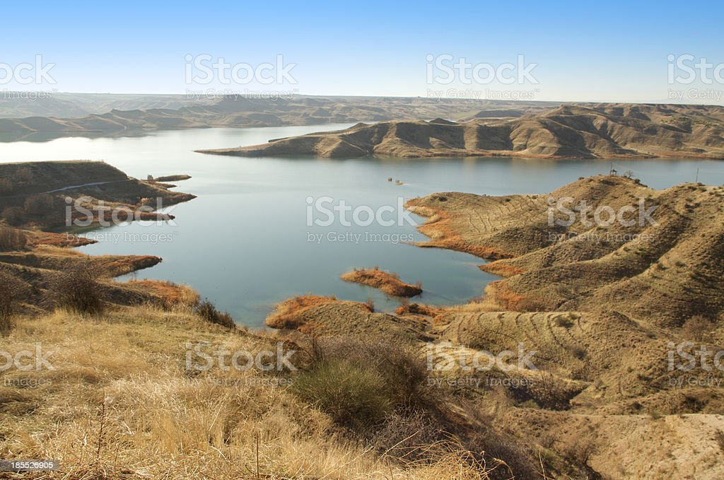 shores of the dam royalty-free stock photo