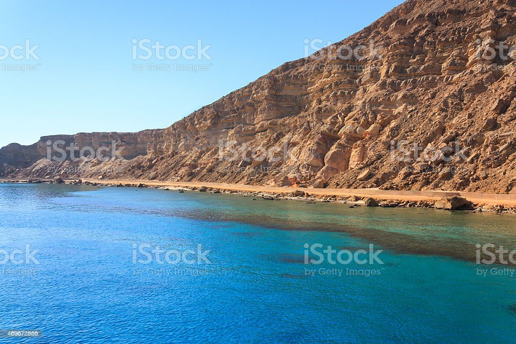 Shores of the Red Sea stock photo