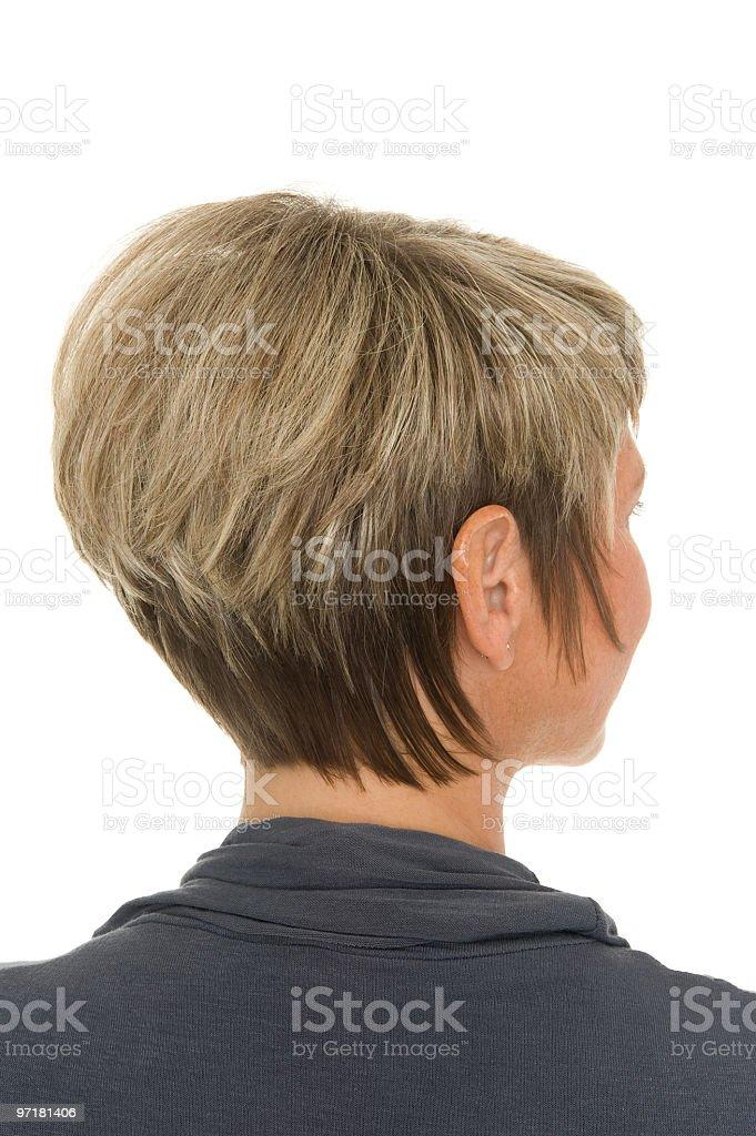 Short Bob hairstyle or haircut stock photo